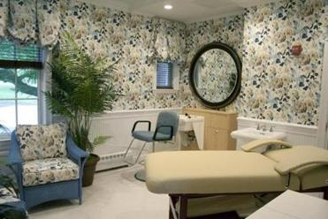 A spa room for hospice patients